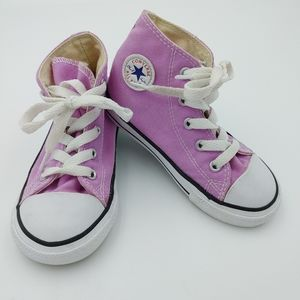 Purple hi-top Converse All-Stars toddler size 8